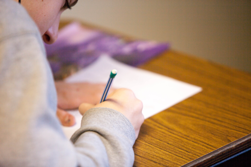 student-on-desk